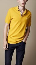 Burberry Brit Men Casual Short Sleeve Nova Polo Shirt Bright Gorse Yellow Large
