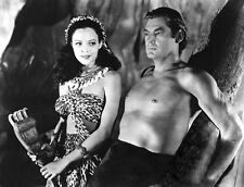 Johnny Weissmuller and Acquanetta photo - B3068 - Tarzan and the Leopard Woman