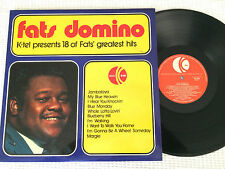 FATS DOMINO 18 OF FATS' GREATEST HITS AUSTRALAIN PRESS LP