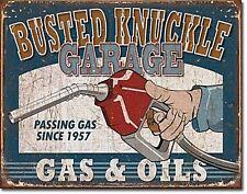 Busted Knuckle Garage Gas & Oils metal sign  (de)