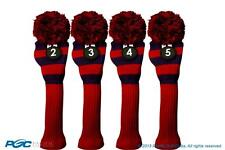 Hybrid golf club headcover New 4 piece classic BLUE RED 2 3 4 5 KNIT Head cover
