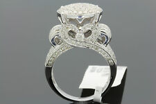10K WHITE GOLD 2.51 CT WOMENS REAL DIAMOND ENGAGEMENT RING WEDDING RING BRIDAL
