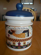Debbie Mumm GATHERING OF ANGELS Canister 9 tall  There is Joy in the Lord