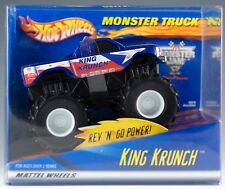 Hot Wheels 2001 Monster Truck Blue King Krunch Rev n Go Power New In Box