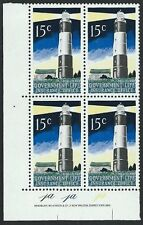 NEW ZEALAND 1969 Lighthouse 15c plate block # 1a 1a 1a MNH.................50197