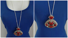 NEW Silver Long Pendant Vintage Fashion Women Jewelry Chain Sweater Necklace