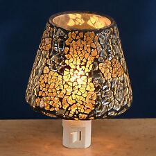Glass Mosaic Night Light by Gift Connection - Blue (Silver/White) - #GC-NL-PN245
