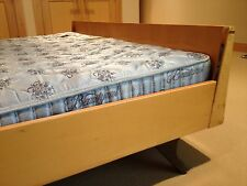 Mid Century Modern Swedish Bed Frame w/ Nightstands & Box Springs