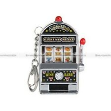 Mini Cool Novelty Casino Slot Machine Decoration Keychain Keyring Toy