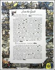I AM THE GUARD Civilian in Peace, Soldier in War, US Army National Guard Print