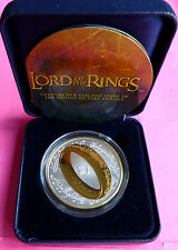 "2003 LORD OF THE RINGS  SILVER GOLD ""ONE RING TO RULE THEM ALL""   PROOF COIN"