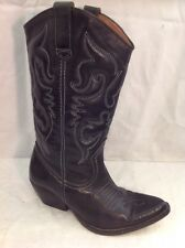 Office London Black Mid Calf Leather Boots Size 37