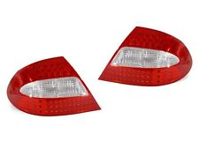DEPO MERCEDES BENZ CLK W209 2003-2009 RED CLEAR LED TAIL LIGHTS