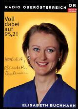 Elisabeth Buchmann ORF Autogrammkarte Original Signiert ## BC 23207