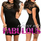 NEW SEXY SIZE 8 10 12 WOMEN'S LACE DRESS PARTY CLUB EVENING FORMAL ATTIRE WEAR