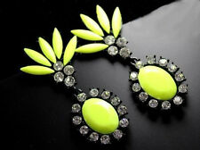 Striking Bohemia Fashion Gorgeous Bright Lemon Yellow Candy Color Alloy Earrings