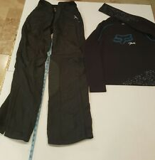Fox Racing Motocross Gear set Paula Womens pants 3/4 Jersey Small Black