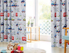 Kids Blockout Curtains Blackout Curtain Blue Car Bus Truck Boy 180cm x 224cm