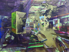 "ORIGINALE kaliya kalacheva ""esplosione"" 2015 ASTRATTO PAESAGGIO URBANO PITTURA"