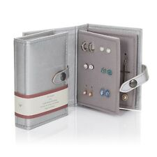 Small Little Book Of Earrings Silver 2 Page Jewellery Box Book Travel Size Gift