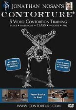 Contortion Training 5 Video DVD: Beginner to Pro! CONTORTURE by Jonathan Nosan
