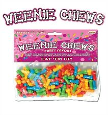 Bachelorette Party WEENIE CHEWS - MULTI FLAVOR PENIS SHAPED CANDY - 125 ct Bag