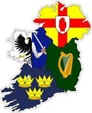 Sticker car moto map flag vinyl outside decal province irish irelande ireland