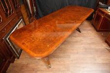 Regency Pedestal Dining Table Walnut Extending Tables