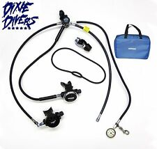 TEC REGULATOR SET DIN 1ST STAGE MINI SPG TECHNICAL SCUBA DIVING NEW FREE REG BAG