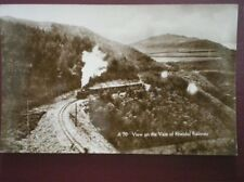 POSTCARD RP A VIEW ON THE VALE OF RHEIDOL RAILWAY