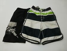 Sand N Sun 6-7 Skull & Old Navy 6-7 Striped Swim Trunk Shorts Good Condition
