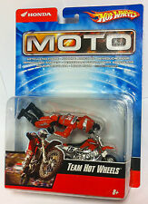 Hot wheels 2007 moto #15 team Hot wheels honda CRF 1:18 mobiles personnage NEUF