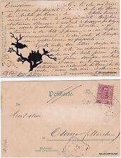 """# SILHOUETTES - di  ROBERT ERBE """"UCCELLINI NEL NIDO ATTENDONO IL CIBO""""  1904"""