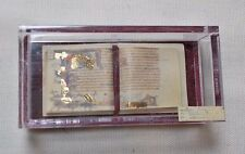 Dolls house miniature Museum / History ILLUMINATED MANUSCRIPT BOOK IN CASE