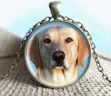 Vintage Dogs Cabochon Bronze Glass Chain Pendant Necklace #sw24