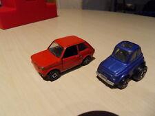 Vintage toys car ancien jouet auto Fiat 500 de Polistil et Fiat 123 de Politoys