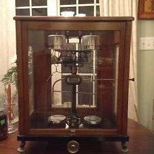 Antique VOLAND & SONS Analytical Apothecary/Jewelers SCALE Full Glass Enclosure