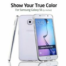 For Clear Samsung Galaxy S6 Case Silicone Bumper Gel Soft Cover TPU Rubber Skin