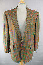 SUPERBA John g.hardy Pura Lana Tweed Giacca 42 In (Long)