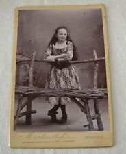 ORIGINAL CABINET PHOTO MARTINOTTO GRENOBLE FRANCE CIR1880 VICTORIAN COUNTRY GIRL
