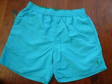 NWT POLO  RALPH LAUREN BLUE SWIM SHORTS SZ M