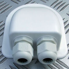 ROOF GLAND, 2 CABLE ENTRY. SOLAR SATELLITE AERIAL AIRCON MOTORHOME CARAVAN BOAT