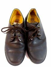 SKECHERS MENS BROWN LEATHER RUGGED LACE UP WORK HIKING OXFORDS TRACTION SIZ