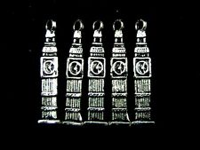 5 x Tibetan Silver Big Ben Charms Pendant Craft Beading Jewellery  O172