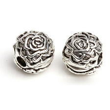 1 of Silver Plated Flower Safety Stopper Beads Fit Bracelets DIY Making
