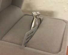 1.5 Carat D Diamond Engagement Ring Round Cut 14K White Gold Enhanced Size 7.5