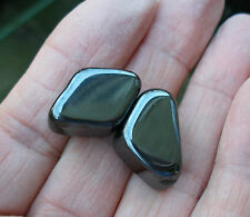 2 x STRONG MAGNETIC HEMATITE TUMBLESTONES STONES CRYSTALS * GIFT BAG & ID CARD