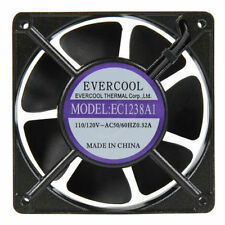 Evercool  AC 110V 115V 120V 120mm x 38mm Aluminum Ball Cooling Fan EC1238A1