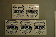 5 Brinks Home Alarm SECURITY SURVEILLANCE DECAL WINDOW DOOR STICKER Die Cut
