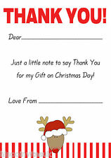 Christmas Thank You Notes x 20 A5 with envelopes - Reindeer Stripes H0006